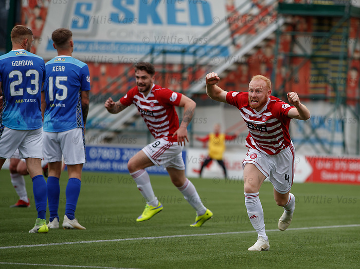 18.05.2019 Hamilton v St Johnstone: Ziggy Gordon celebrates his goal