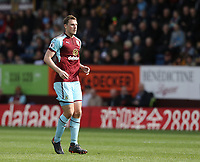 Burnley's Chris Wood<br /> <br /> Photographer Rich Linley/CameraSport<br /> <br /> The Premier League - Burnley v Leicester City - Saturday 14th April 2018 - Turf Moor - Burnley<br /> <br /> World Copyright &copy; 2018 CameraSport. All rights reserved. 43 Linden Ave. Countesthorpe. Leicester. England. LE8 5PG - Tel: +44 (0) 116 277 4147 - admin@camerasport.com - www.camerasport.com