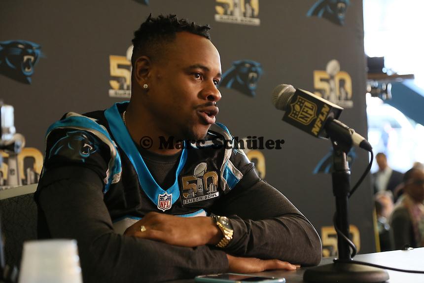 WR Ted Ginn Jr. (Panthers) - Super Bowl 50 Carolina Panthers PK, Convention Center San Jose