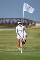 Nanna Koerstz Madsen (DEN) looks over her chip on 2 during the round 3 of the Volunteers of America Texas Classic, the Old American Golf Club, The Colony, Texas, USA. 10/5/2019.<br /> Picture: Golffile   Ken Murray<br /> <br /> <br /> All photo usage must carry mandatory copyright credit (© Golffile   Ken Murray)