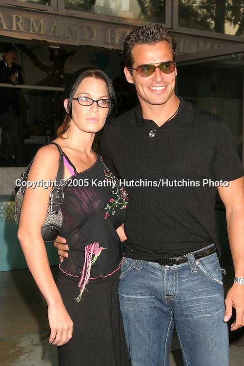 Antonio Sabato Jr. and date.CBS TCA Summer Press Tour Party.(TCA = Television Critics Association).Los Angeles, CA.July 19, 2005.©2005 Kathy Hutchins / Hutchins Photo