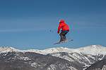 Freeskier jumping at Keystone Ski Area, Colorado, .  John leads private ski trips to Front Range and Summit County Ski Areas in Colorado.