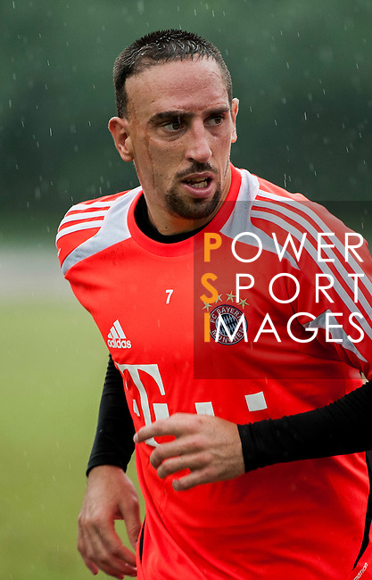 Franck Ribery of Bayern Munich during a training session ahead the friendly match against VfL Wolfsburg as part of the Audi Football Summit 2012 on July 26, 2012 at the Tianhe Sports Stadium in Guangzhou, China. Photo by Victor Fraile / The Power of Sport Images