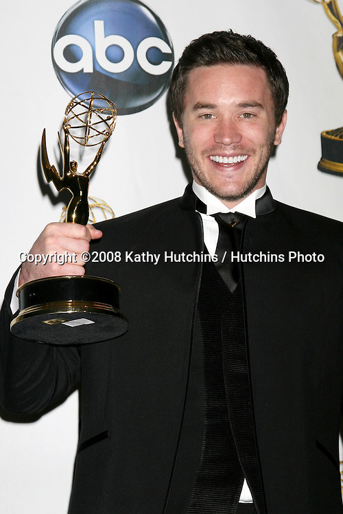 Tom Pelphrey in the press room after Winning an award for Outstanding Younger Actor at the  the Daytime Emmys 2008 at the Kodak Theater in Hollywood, CA on.June 20, 2008.©2008 Kathy Hutchins / Hutchins Photo .