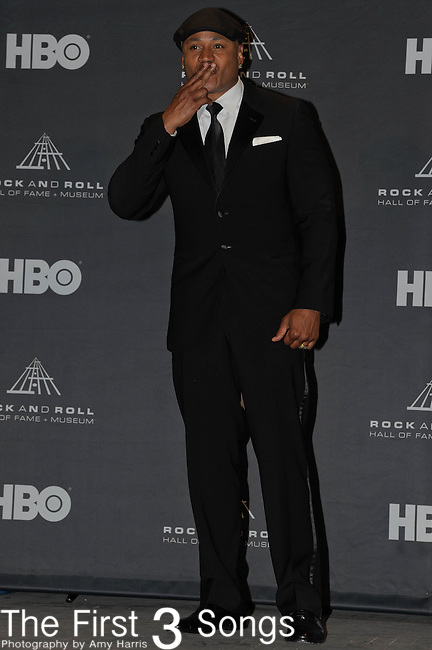 LL Cool J in the press room of the Rock & Roll Hall of Fame Induction Ceremony in Cleveland, Ohio on April 14, 2012.
