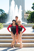 STANFORD, CA - Sophmores of Stanford University Women's Gymnastics.