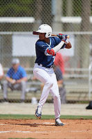 Werner Blakely (7) during the WWBA World Championship at the Roger Dean Complex on October 10, 2019 in Jupiter, Florida.  Werner Blakely attends Detroit Edison Public School Academy in Detroit, MI and is committed to Auburn.  (Mike Janes/Four Seam Images)