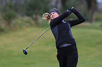 Sanna Lundmark (SWE) on the 1st tee during Round 1 of the Irish Girls U18 Open Stroke Play Championship at Roganstown Golf &amp; Country Club, Dublin, Ireland. 05/04/19 <br /> Picture:  Thos Caffrey / www.golffile.ie