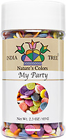 India Tree Nature's Colors natural My Party Sprinkles, natural rainbow sprinkles, natural funfetti, India Tree Decoratifs