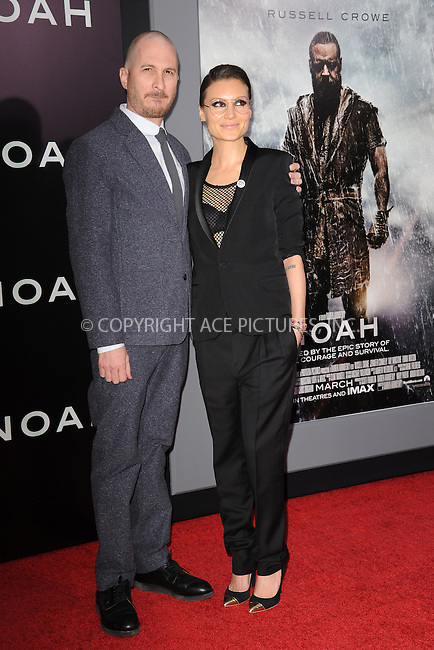 WWW.ACEPIXS.COM<br /> March 26, 2014 New York City<br /> <br /> Darren Aronofsky and Brandon Milbradt attending the 'Noah' New York premiere at Ziegfeld Theatre on March 26, 2014 in New York City.<br /> <br /> Please byline: Kristin Callahan<br /> <br /> ACEPIXS.COM<br /> <br /> Tel: (212) 243 8787 or (646) 769 0430<br /> e-mail: info@acepixs.com<br /> web: http://www.acepixs.com
