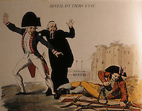"""French Revolution:   """"The Awakening of the Third Estate"""".  Anonymous 1789.  Reference only."""