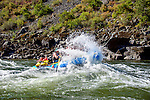 River rafting on the Lower Salmon River, central Idaho