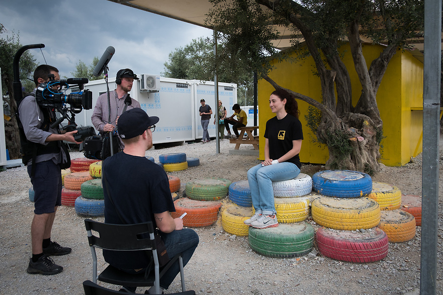 Mitch Moffit and Greg Brown, creators of ASAP Science YouTube Channel visit Kara Tepe Site on the Greek island of Lesvos, where hundreds of refugees are accommodated as they wait to their procedure.