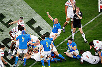 Team of Italy scores a try  during the NatWest Six Nations match between France and Italy at Stade Velodrome on February 23, 2018 in Marseille, France. (Photo by Guillaume Ruoppolo/Icon Sport)
