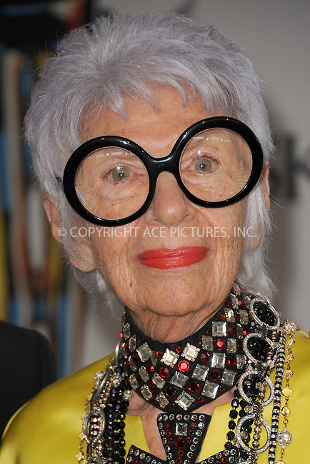 WWW.ACEPIXS.COM . . . . . .June 6, 2011...New York City..... Iris Apfel attends the 2011 CFDA Fashion Awards at Alice Tully Hall, Lincoln Center on June 6, 2011 in New York City......Please byline: KRISTIN CALLAHAN - ACEPIXS.COM.. . . . . . ..Ace Pictures, Inc: ..tel: (212) 243 8787 or (646) 769 0430..e-mail: info@acepixs.com..web: http://www.acepixs.com .