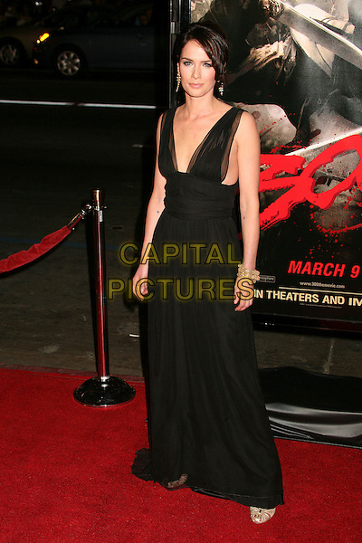 """LENA HEADEY.""""300"""" Los Angeles Premiere at Grauman's Chinese Theatre, Hollywood, California, USA..March 5th, 2007.full length black sleeveless dress.CAP/ADM/BP.©Byron Purvis/AdMedia/Capital Pictures"""
