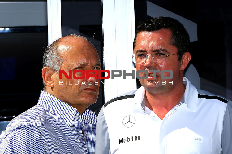 Ron Dennis (GBR), McLaren, Team Principal, Chairman - Eric Boullier (FRA),  McLaren F1 Team<br /> for the complete Middle East, Austria &amp; Germany Media usage only!<br />  Foto &copy; nph / Mathis