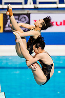 CHANG Yani 7, SHI Tingmao CHN<br /> Diving <br /> Women's 3m Synchro Springboard Preliminary<br /> Day 04 17/07/2017 <br /> XVII FINA World Championships Aquatics<br /> Duna Arena Budapest Hungary July 15th - 30th 2017 <br /> Photo @A.Masini/Deepbluemedia/Insidefoto