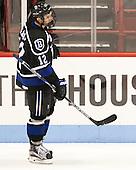 Andrew Gladiuk (Bentley - 12) - The visiting Bentley University Falcons defeated the Northeastern University Huskies 3-2 on Friday, October 16, 2015, at Matthews Arena in Boston, Massachusetts.