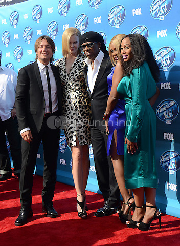 HOLLYWOOD, CA - MAY 13: Keith Urban, Nicole Kidman, and Nile Rodgers arriving at the 2015 American Idol Season 14 Finale at the Dolby Theatre on May 13, 2015 in Hollywood, California. Credit: PGTW/MediaPunch