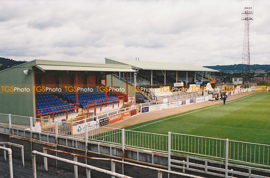 General view of Twerton Park, home of Bath City Football Club on 21st July 2002