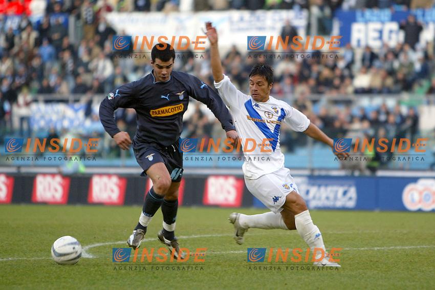 Roma 11/1/2004 <br /> Lazio Brescia 0-1 <br /> Delgado (Lazio) e Gilberto Martinez Vidal (Brescia)<br /> Photo Andrea Staccioli Insidefoto