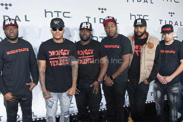 BROOKLYN, NY - OCTOBER 20: Money & Violence on arrivals for TIDALx1020 Concert at Barclays Center in Brooklyn, NY on October 20, 2015. Credit: Abel Fermin/MediaPunch