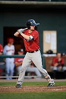 Erie SeaWolves catcher Jake Rogers (7) at bat during a game against the Harrisburg Senators on August 29, 2018 at FNB Field in Harrisburg, Pennsylvania.  Harrisburg defeated Erie 5-4.  (Mike Janes/Four Seam Images)