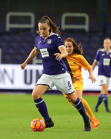 20190912 - Anderlecht , BELGIUM : Anderlecht's Tine De Caigny is pictured during the female soccer game between the Belgian Royal Sporting Club Anderlecht Dames  and BIIK Kazygurt from Shymkent in Kazachstan, this is the first leg in the round of 32 of the UEFA Women's Champions League season 2019-20120, Thursday 12 th September 2019 at the Lotto Park in Anderlecht , Belgium. PHOTO SPORTPIX.BE | SEVIL OKTEM
