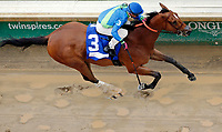LOUISVILLE, KY - MAY 05: Big World #3, ridden by Florent Geroux, wins the La Troienne Stakes on Kentucky Oaks Day at Churchill Downs on May 5, 2017 in Louisville, Kentucky. (Photo by Jon Durr/Eclipse Sportswire/Getty Images)