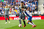 Real Sociedad's Mikel Merino and RCD Espanyol's Oscar Melendo  during La Liga match. May, 18th,2019. (ALTERPHOTOS/Alconada)