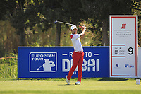 Eunshin Park (KOR) on the 9th tee during Round 3 of the Rocco Forte Sicilian Open 2018 played at Verdura Resort, Agrigento, Sicily, Italy on Saturday 12th May 2018.<br /> Picture:  Thos Caffrey / www.golffile.ie<br /> <br /> All photo usage must carry mandatory copyright credit (&copy; Golffile   Thos Caffrey)