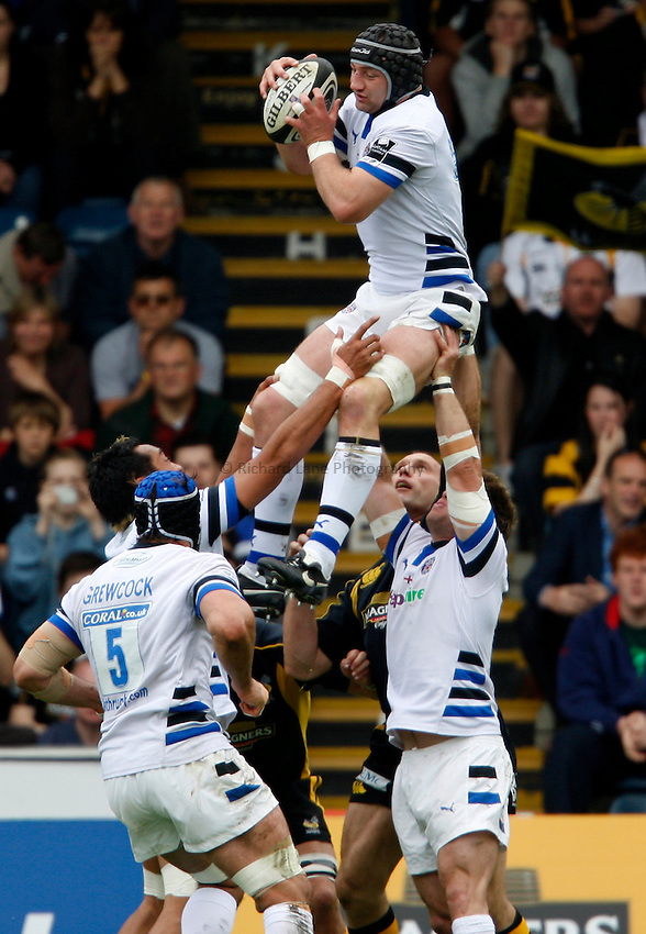 Photo: Richard Lane/Richard Lane Photography. .London Wasps v Bath Rugby. Guinness Premiership. 18/05/2008.