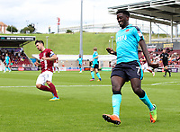 Fleetwood Town's Jordy Hiwula<br /> <br /> Photographer Andrew Kearns/CameraSport<br /> <br /> The EFL Sky Bet League One - Northampton Town v Fleetwood Town - Saturday August 12th 2017 - Sixfields Stadium - Northampton<br /> <br /> World Copyright &copy; 2017 CameraSport. All rights reserved. 43 Linden Ave. Countesthorpe. Leicester. England. LE8 5PG - Tel: +44 (0) 116 277 4147 - admin@camerasport.com - www.camerasport.com