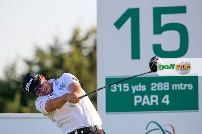 Jose Filipe Lima (POR) on the 15th during the 1st round of the 2017 Portugal Masters, Dom Pedro Victoria Golf Course, Vilamoura, Portugal. 21/09/2017<br /> Picture: Fran Caffrey / Golffile<br /> <br /> All photo usage must carry mandatory copyright credit (&copy; Golffile   Fran Caffrey)