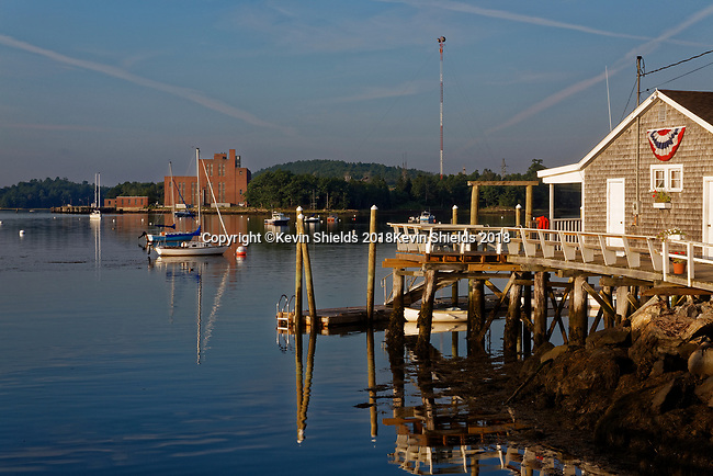 Harbor scene, Wiscasset, Maine, USA