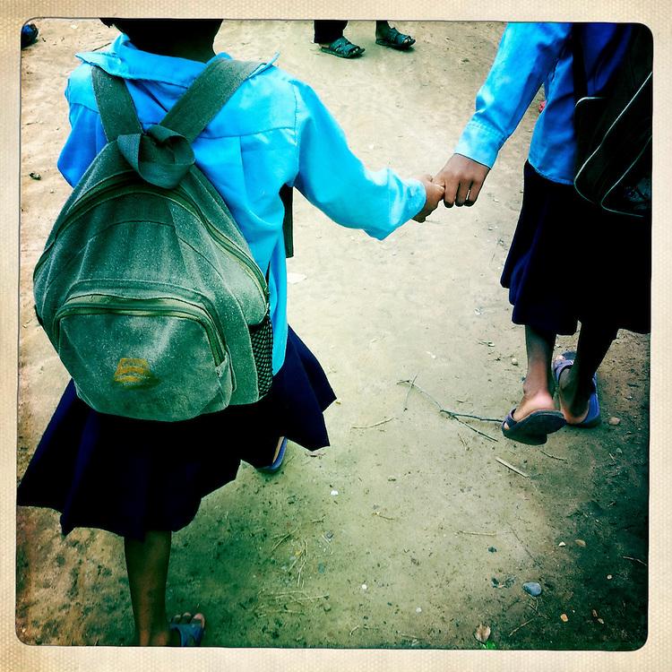 Schoolgirls, Thakurdwarda, Nepal.