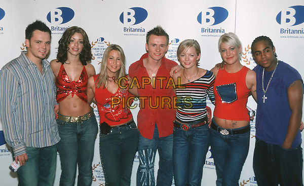 S CLUB 7.Record Of The Year Award.Ref: 11307.half length, half-length.*RAW SCAN - photo will be adjusted for publication*.www.capitalpictures.com.sales@capitalpictures.com.© Capital Pictures