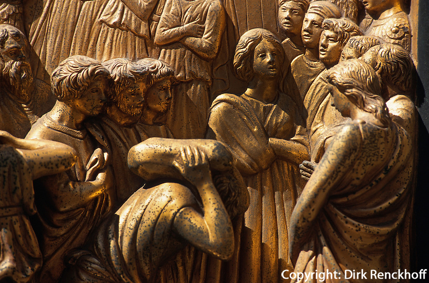 Baptisterium, Paradiestor (Bronzetor Ostseite), Florenz, Toskana, Italien, Unesco-Weltkulturerbe