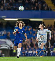 Ethan Ampadu of Chelsea & Tom Davies of Everton during the Carabao Cup round of 16 match between Chelsea and Everton at Stamford Bridge, London, England on 25 October 2017. Photo by Andy Rowland.