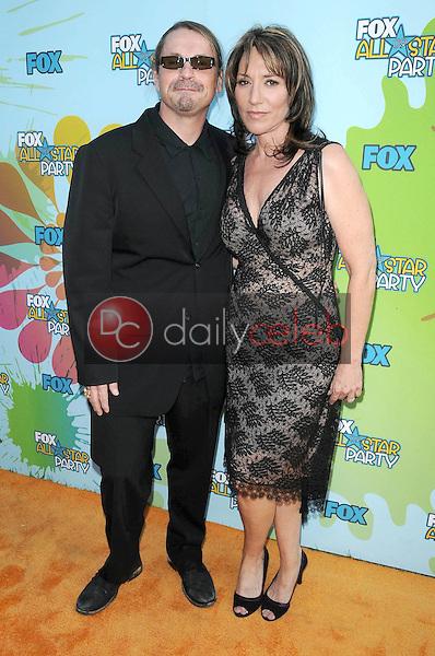 Kurt Sutter and Katey Sagal<br />at FOX's 2009 All Star Party. Lanham Huntington Hotel, Pasadena, CA. 08-06-09<br />Dave Edwards/DailyCeleb.com 818-249-4998