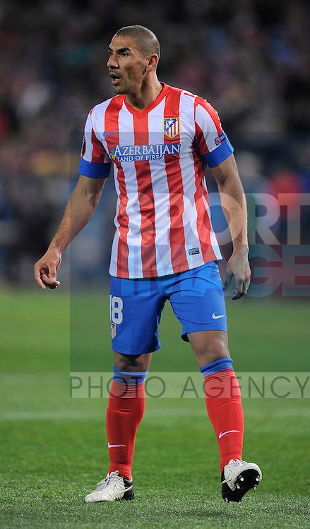 Alvaro Dominguez of Atletico Madrid - UEFA Europa League Round of 32 - Atletico Madrid vs Rubin Kazam - Vincente Calderon Stadium - Madrid - 14/02/13 - Picture Simon Bellis/Sportimage
