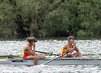 Lucerne, SWITZERLAND<br /> <br /> ESP W2-  Bow Anna BOADA PEIRO and Aina CIDI, 2016 European Olympic Qualifying Regatta, Lake Rotsee.<br /> <br /> Tuesday  24/05/2016<br /> <br /> [Mandatory Credit; Peter SPURRIER/Intersport-images]