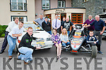 Denis Nagle launching the John Divane Memorial, Killarney Autocross which will be held on Sunday August 2nd, at the Travel Inn Fossa on Wednesday evening  front row:Denis Nagle, Sarah Daly, Tara Looney Luke Moynihan  back row l-r: Anthony O'Connor, Paul O'Shea, Martin Farrell, Niall McClarnon, George Saary, Dan McSweeney, Tom Daly,m Pat looney, Diarmuid Lynch