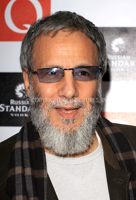 WWW.ACEPIXS.COM . . . . .  ..... . . . . US SALES ONLY . . . . .....October 26 2009, London....Yusuf Islam aka Cat Stevens arriving at the Q Awards 2009 at the Grosvenor House Hotel on October 26, 2009 in London, England.......Please byline: FAMOUS-ACE PICTURES... . . . .  ....Ace Pictures, Inc:  ..tel: (212) 243 8787 or (646) 769 0430..e-mail: info@acepixs.com..web: http://www.acepixs.com