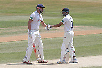 Nick Browne (L) and Ravi Bopara enjoy a useful partnership for Essex during Essex CCC vs Somerset CCC, Specsavers County Championship Division 1 Cricket at The Cloudfm County Ground on 28th June 2018