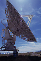 VERY LARGE ARRAY (VLA) -RADIO TELESCOPES<br /> Connected Electronically<br /> Array of 27 antennas connected electronically to synthesize a single telescope 20 miles in diameter. Radio waves from sky are reflected off telescope surface to a subreflector which reflects the waves to a receiver which amplifies faint waves.
