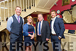 Kieran Reilly, Holly O'Brien, JP Vivier and Andy Brace at the Listowel RFC Social & Awards night in the Listowel Arms hotel on Saturday