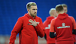 Aaron Ramsey of Wales before the start of the FIFA World Cup Qualifying match at the Cardiff City Stadium, Cardiff. Picture date: November 12th, 2016. Pic Robin Parker/Sportimage