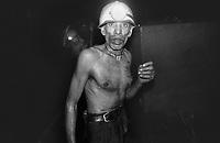 Raghu Patra, a loader for last 30 years inside the deep mine of North Searsole Coliery in Ranigunj, West Bengal, India. Arindam Mukherjee